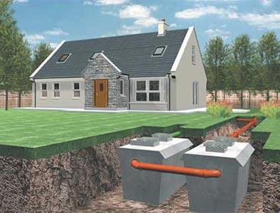 Desludging a septic tank