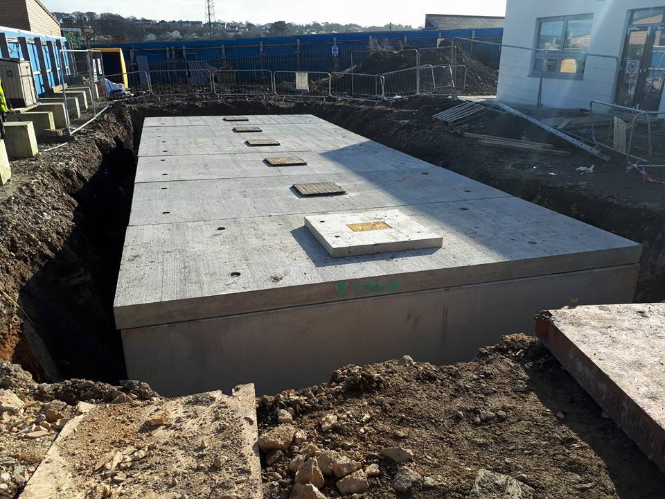 Underground Firefighting Water Storage System | O'Reilly Oakstown