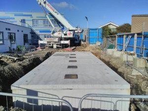 Underground Firefighting Water Storage System
