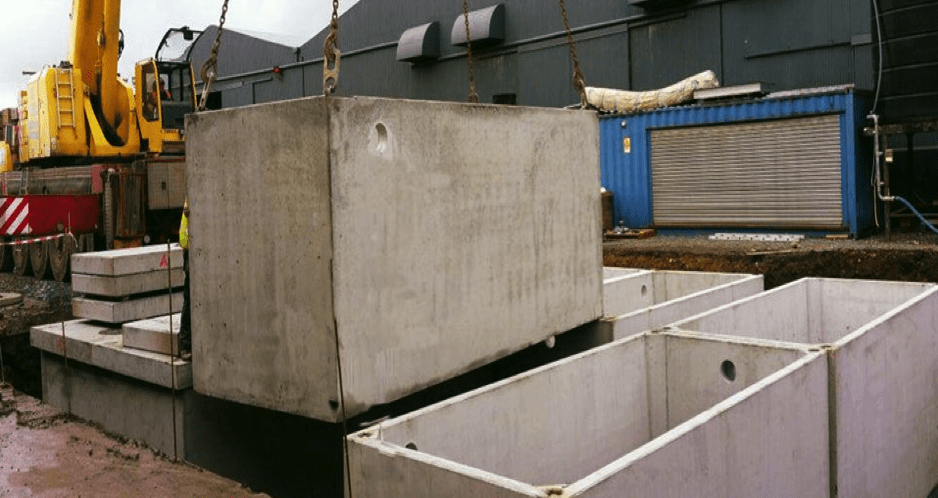 Wastewater Treatment holding tanks